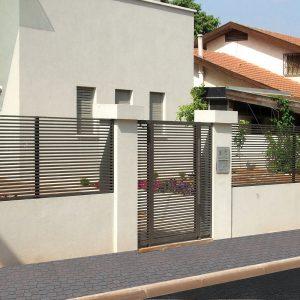 גדר ושער אלומיניום